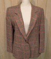 Leslie Fay Sportswear Career Blazer Jacket Size 14P Wool Blend Lined