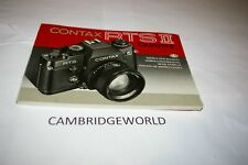 Contax Rts Ii Quartz Camera Instruction Manual Guide Book Original Genuine