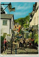 B9872law UK Clovelly Up Along Donkey postcard