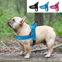 No Pull Front Clip Dog Harness Adjustable Reflective Plush Padded Pet Vest S M L