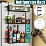 Kitchen Refrigerator Magnetic Rack Fridge Side Organizer Storage Holder Shelf