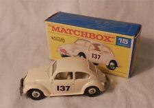 60s.Lesney.Matchbox.15 VOLKSWAGEN VW.BEETLE RALLY BUG Chrome wheels.Mint in box
