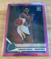 2019-20 Donruss Optic Jordan Poole Hyper Pink Rated Rookie #177 Rookie RC