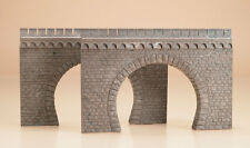 AUHAGEN HO ~ DOUBLE TRACK TUNNEL PORTAL PAIR ~ PLASTIC MODEL #41587