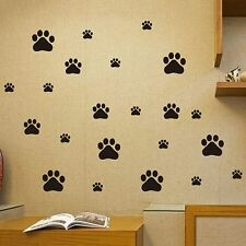 22Pcs/set Removable Refrigerator Decal Cat Dog Paws Wall Stickers Home Mural