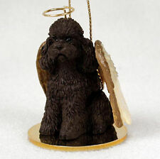 Poodle Dog Figurine Angel Statue Chocolate Sportcut