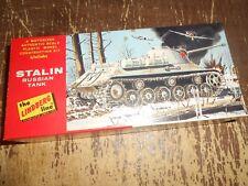 Vintage Lindberg Motorized Russian Stalin Tank Model in Box 6027-60