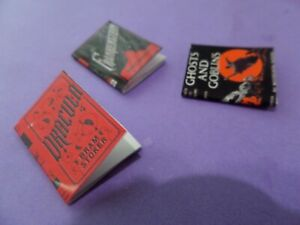 3 Scary Blank Books for your witch Dollhouse Miniatures 1:12