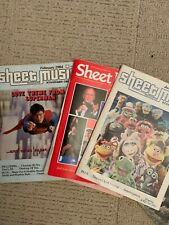 Sheet Music Magazine 4 with over 40 songs