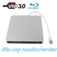 USB 3.0 3D Blu-Ray Writer Player RW External DVD CD Burner Drive Win Mac