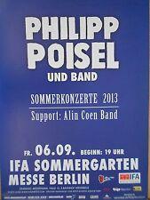 PHILIPP POISEL  2013    orig.Concert - KONZERT - TOUR - Poster BERLIN