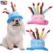 Hat Cap Cake Candles Pet Birthday Costume Cosplay Puppy Dog Cat Christmas Deco
