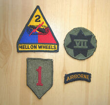 PATCH AUFNÄHER US-Army Hell On Wheels Airborne Big Red One VII Corps US-Forces