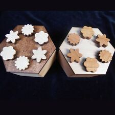 Hexagon Secret Lock Puzzle Box - handcrafted beautiful design made USA