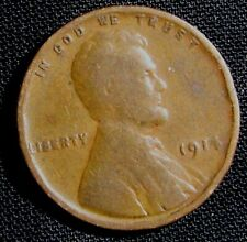 1914 Philadelphia Mint Lincoln Wheat Penny Cent