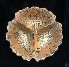 MID-CITY WEEPING 22K BRIGHT GOLD   DISH 1961 NEW ORLEANS MARDI GRAS KREWE FAVOR
