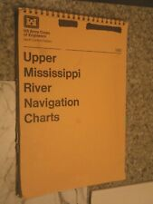 Vintage 1982 Navigation Charts Upper Mississippi US Army Corp of Engineers