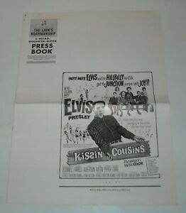 ELVIS PRESLEY - KISSIN' COUSINS PROMO MOVIE PRESSBOOK 1964 YVONNE CRAIG ROMANCE