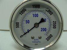 "PRO-202L-254P PRO 2.5"" Glycerin Filled SS Gauge 1/4"" NPT Back Mount 0/3000 psi"