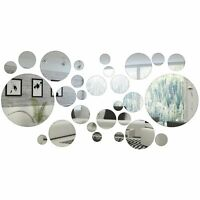 32 Pieces Removable Acrylic Mirror Setting Wall Sticker Decal for Home Living