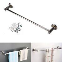 New 57CM Single Towel Rail Rack Holder Wall Mounted Bathroom Shelf Chrome