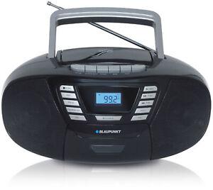 Blaupunkt Kinder CD Spieler UKW Player Kassetten Rekorder Bluetooth USB schwarz