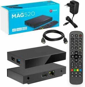 INFOMIR NEW MODEL 4K Mag 520 Set-top box **100% Genuine** with 2pin EU plug
