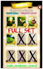 Coin Master Beehive Full Set ( Flower Fields, Pollen Slide, Hive, Bee ) 4x Card