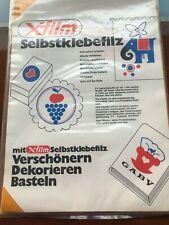 Selbstklebe Filz , Bastel filz Film 4 Bogen 22x32cm je 1xgelb blau rot grün 1 mm