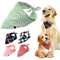 5pcs Bandana Dog Collar Soft Cotton Pet Cat Puppy Neck Scarf Tartan Neckerchief