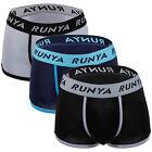 3 Pack Mens Soft Boxer Briefs Underwear Bulge Pouch Shorts Trunks Underpants