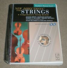 New Directions For Strings 1 Teachers Manual Book & 2 Cd Set 535 Pages