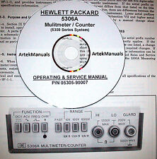 HP Hewlett Packard 5306A Multimeter / Counter Operating & Service Manual