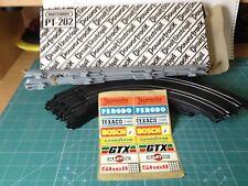 MATCHBOX POWERTRACK PT-202 CAJA CON 6 VIAS CURVAS 90 GRADOS+6 VALLAS Y PEGATINAS
