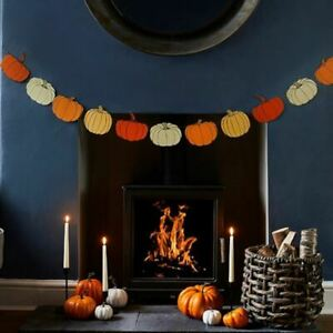Halloween Pumpkin Garland | Fireplace Hanging Party Decoration  2.5m
