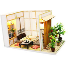 Dollhouse Kit with LED Wooden Miniature Furnture Pieces -Charming House