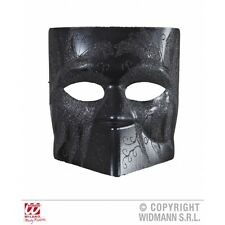 BLACK EXECUTIONER DODGE MASK WITH GLITTER Accessory for Medieval Torture Dungeon