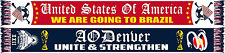 2014 American Outlaws Denver Scarf - 'We Are Going To Brazil'