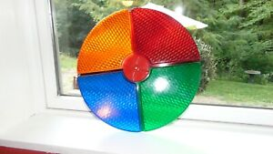 Vintage COLOR WHEEL By Gem 4 Aluminum Christmas Tree Lens Disc ONLY 1950s NICE