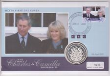 2005 CHARLES & CAMILLA PNC COIN COVER 925 SILVER PROOF S. GEORGIA VINCENT STAMP