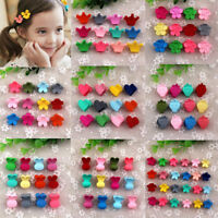 New Baby Girl Colorful Plastic Hair Claw Cartoon Hair Clip Clamp Kids 10 Style