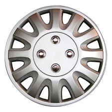 Toptech Motion 15 Inch Wheel Trim Set Silver Set of 4 Hub Caps Covers