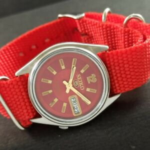 OLD VINTAGE SEIKO 5 AUTOMATIC JAPAN MENS DAY/DATE WATCH 457d-a229242-3