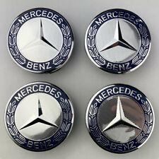 4x75mm Mercedes-Benz Radnabenabdeckung Nabendeckel Nabenkappen Felgendeckel NEU