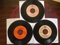 Vintage Lot of 3 HARD TO FIND Treasure Production Inc.45 RPM Children's Records