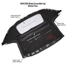 Mazda Miata 1990 2005 Convertible Soft Top With Plastic Window Vinyl Black Fits Mazda Miata