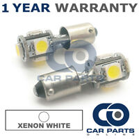 2X XENON WHITE BA9S T4W 233 SIDELIGHT UPGRADE 5 SMD LED BULBS CANBUS