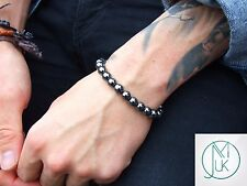 Hematite Natural Gemstone Bracelets 7-8'' Elasticated Healing Stone Chakra Reiki