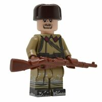 Lego Custom Soviet WINTER WAR Infantry -Full Custom Printing NEW Brickarms Mosin
