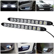 2x 12v 10LED Flessibile per auto diurne led striscia bianche fari lampadine